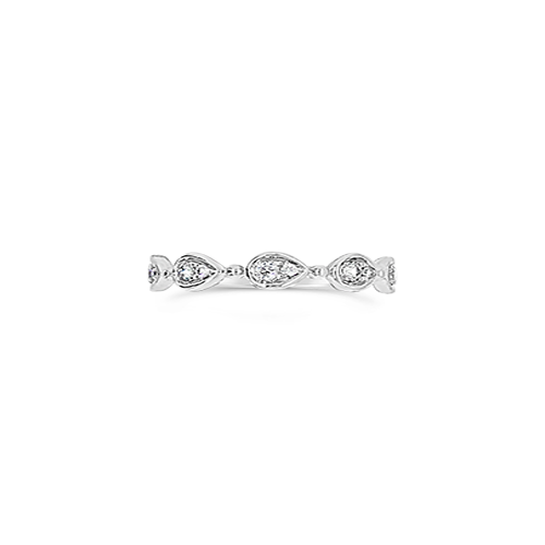 Diamond Band with Pear Shaped Motifs