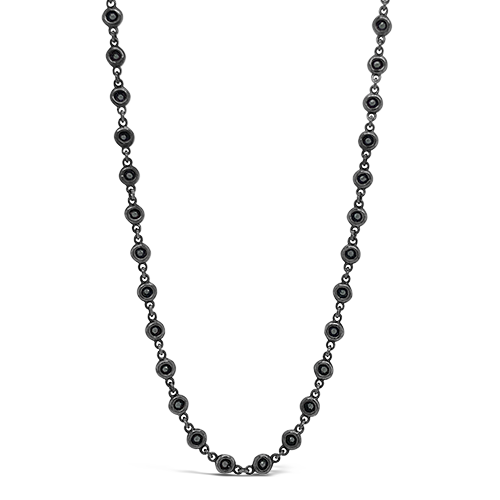 Black Spinel Chain Necklace