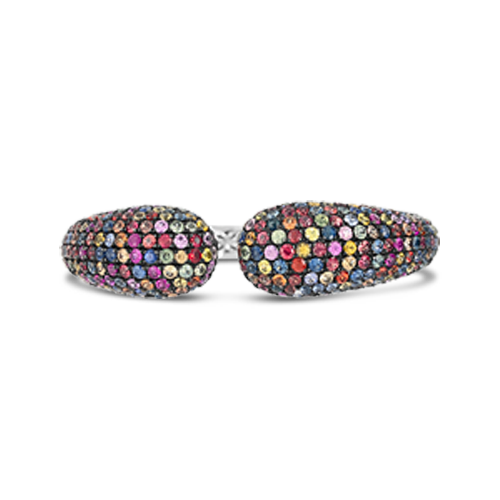 Multi-color Sapphire Bangle Bracelet