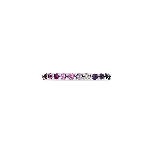 Multi-color Sapphire Band Ring