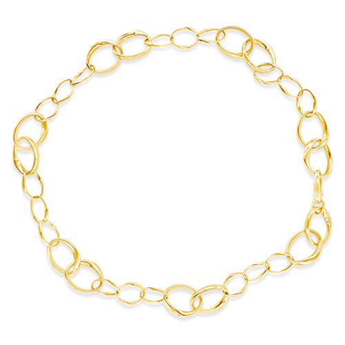 Gold Multi-size Link Necklace