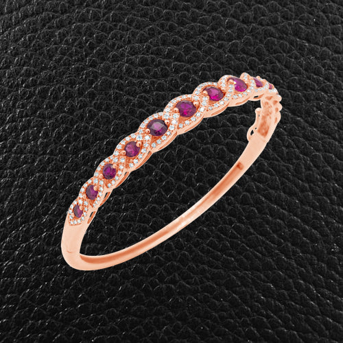 Ruby & Diamond Bangle Bracelet