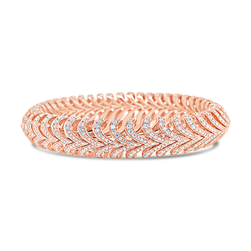 Flexible Diamond Bangle Bracelet