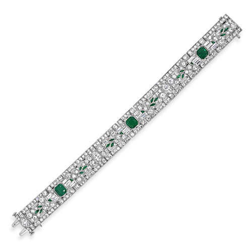 Emerald & Diamond Estate Bracelet