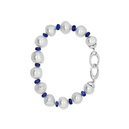 South Sea Pearl & Tanzanite Bracelet