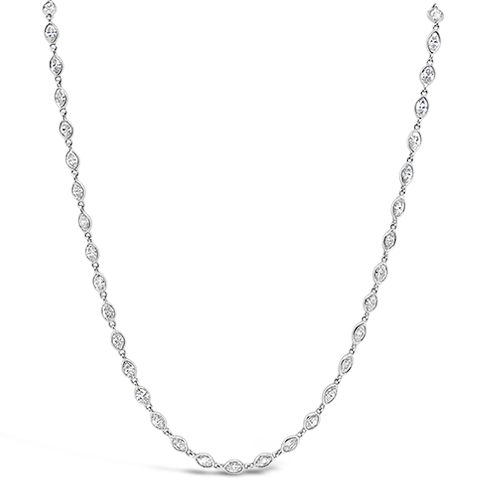 Marquise Diamonds by the Yard Necklace