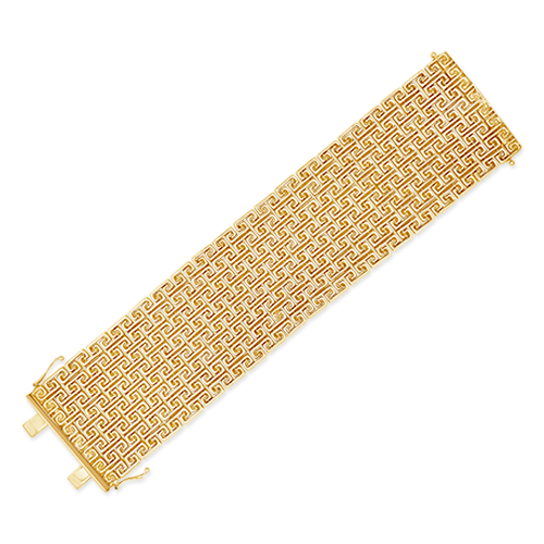 Wide Gold Estate Bracelet