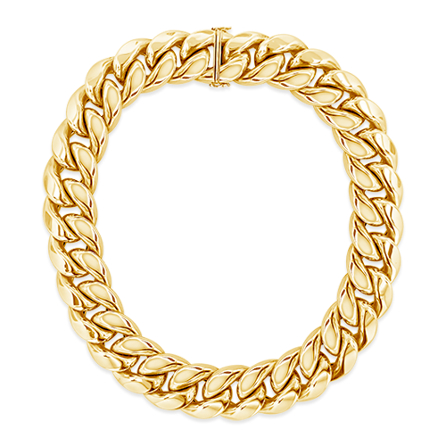 Gold Curb Link Estate Necklace