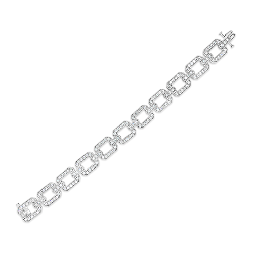 Rectangle Diamond Link Estate Bracelet