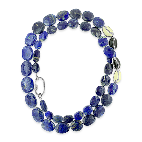 Lapis & Brown Diamond Necklace