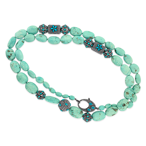 Persian Turquoise Bead Necklace