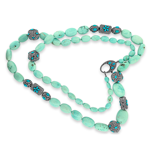 Persian Turquoise & Diamond Necklace