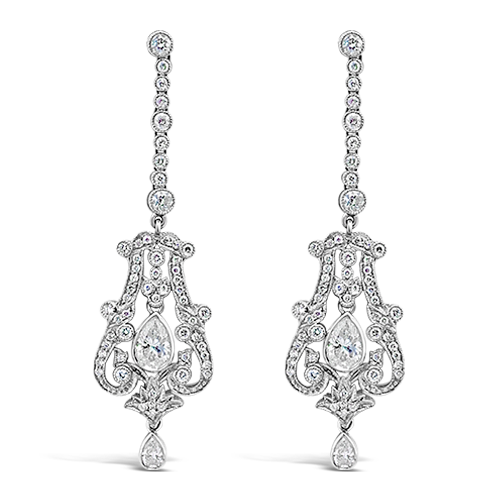 Diamond Dangle Earrings