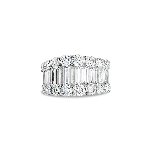 Wide Diamond Band Ring