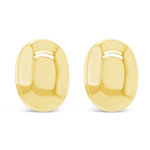 Oval Dome Estate Earrings