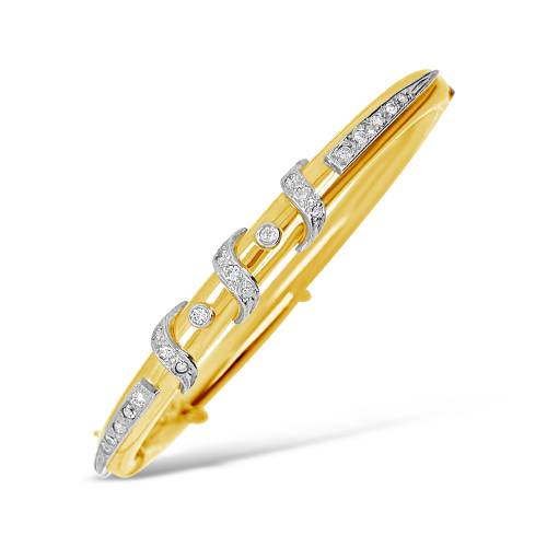 Gold & Diamond Estate Bangle