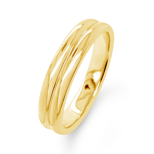 Double Gold Estate Bangle