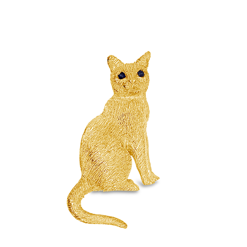 Sitting Cat Estate Pin