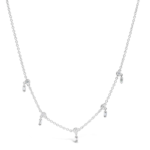 Diamond Stations Necklace