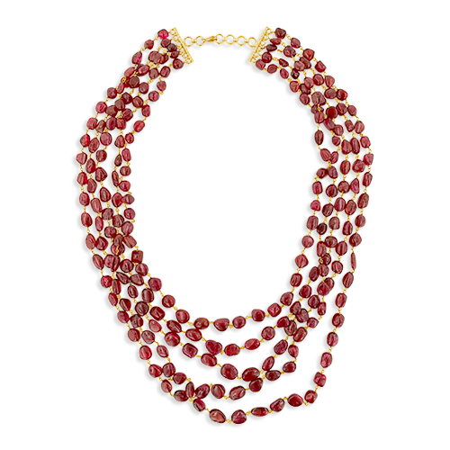 Burma Spinel Bead Necklace