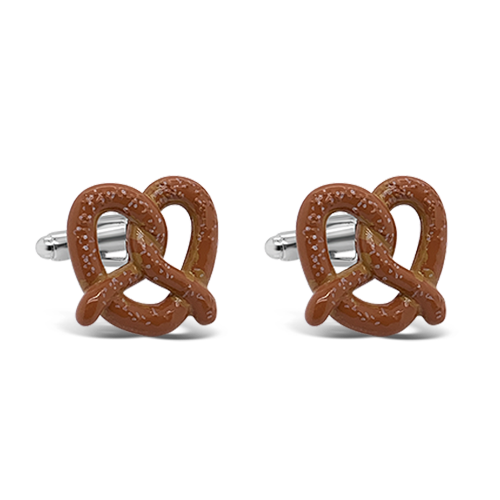 Soft Pretzel Cuff Links