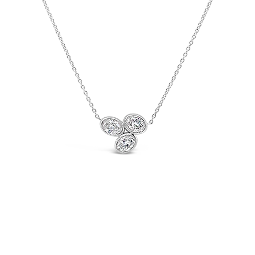 Triple Oval Diamond Pendant