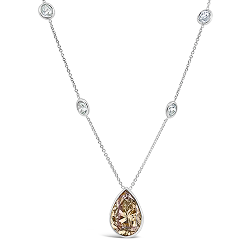 Pear Shaped Diamond Necklace