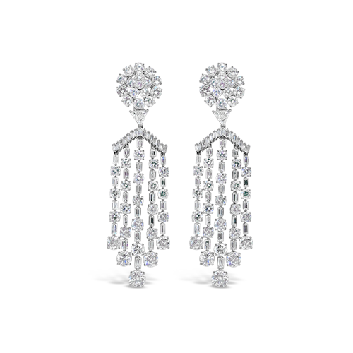 Diamond Chandelier Estate Earrings
