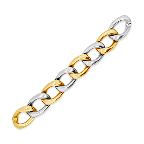 Yellow & White Gold Link Estate Bracelet