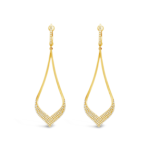 Diamond Teardrop Dangle Earrings