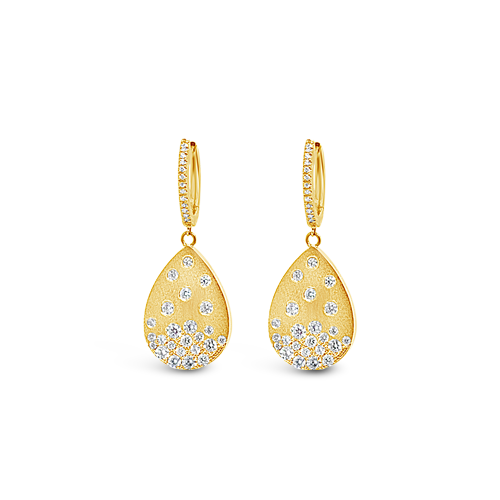 Diamonds in Pear Shape Dangle Earrings