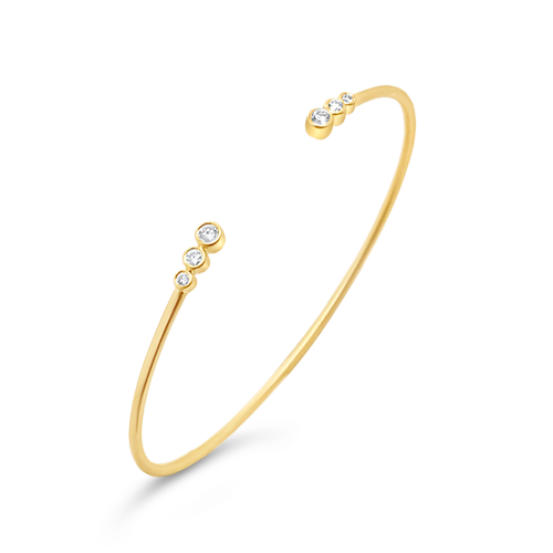 Yellow Gold & Diamond Bangle Bracelet