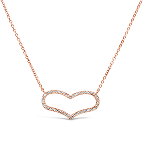 Wide Diamond Heart Pendant