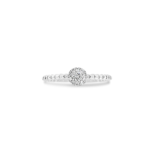White Gold & Diamond Stackable Ring