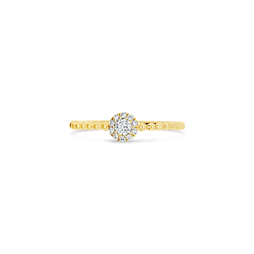 Yellow Gold & Diamond Stackable Ring