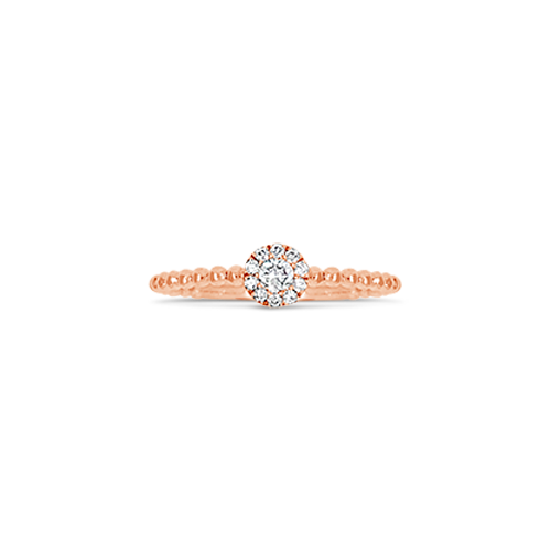 Rose Gold & Diamond Stackable Ring