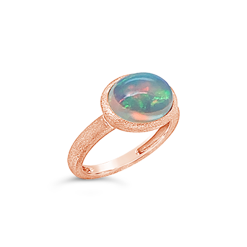 Opal & Rose Gold Ring