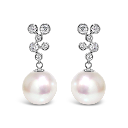 South Sea Pearl & Diamond Earrings