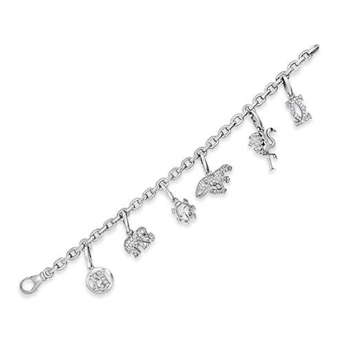 Diamond Cartier Estate Charm Bracelet