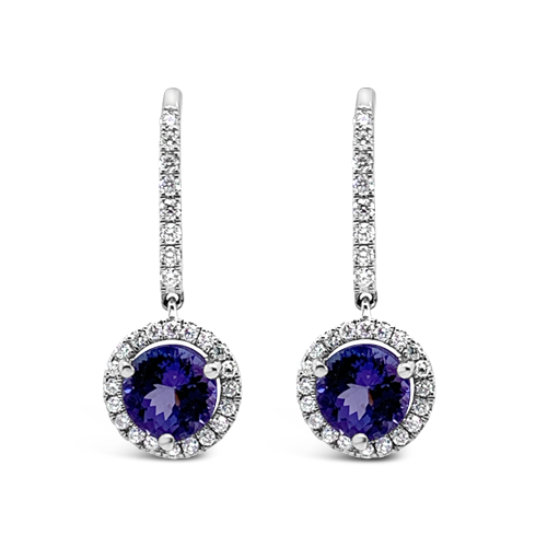 Tanzanite & Diamond Dangle Earrings