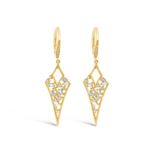 Diamond Arrowhead Earrings