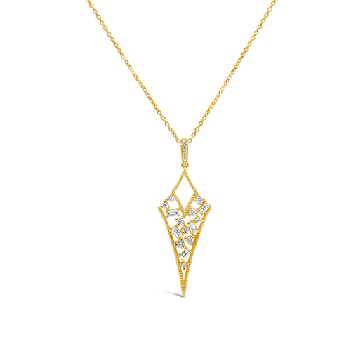Diamond Arrowhead Pendant