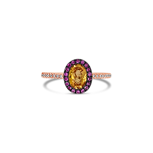 Yellow & Pink Sapphire Ring