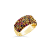 Rainbow Sapphire Dome Ring
