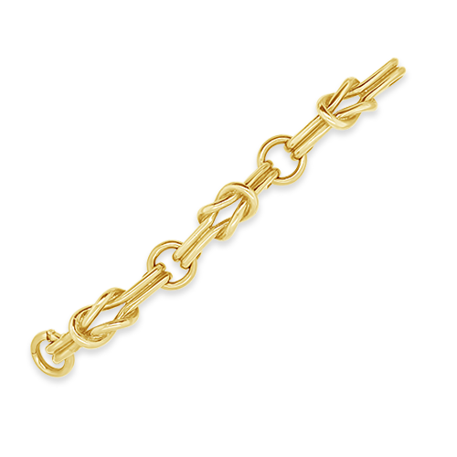 Gold Knot Estate Bracelet