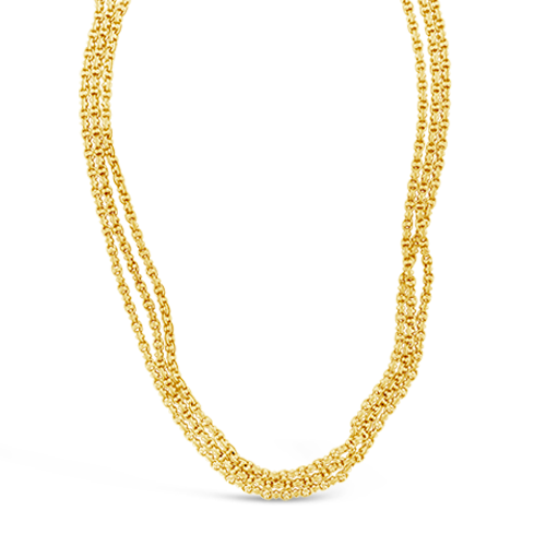 Long Yellow Gold Estate Chain Necklace