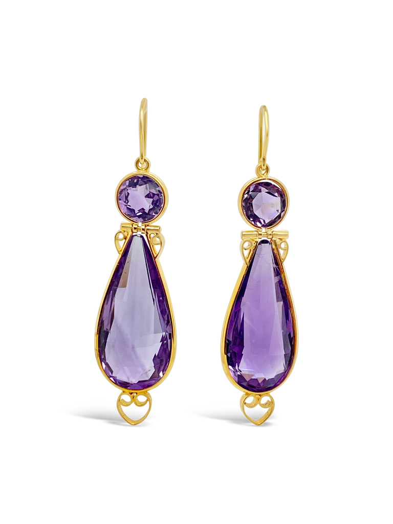 Amethyst Estate Earrings