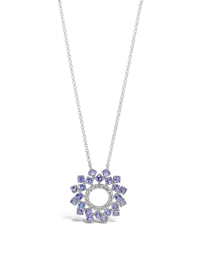 Tanzanite & Diamond Pendant