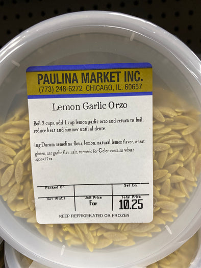 Lemon Garlic Orzo