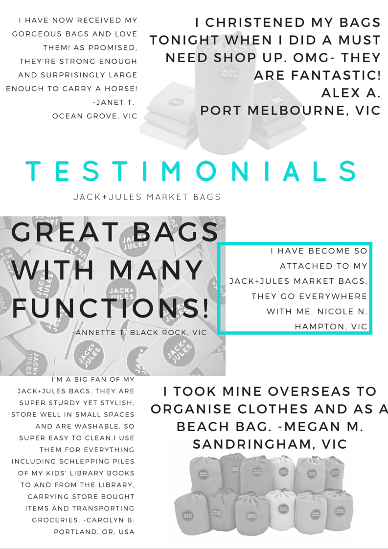 Jack+Jules testimonials, reviews